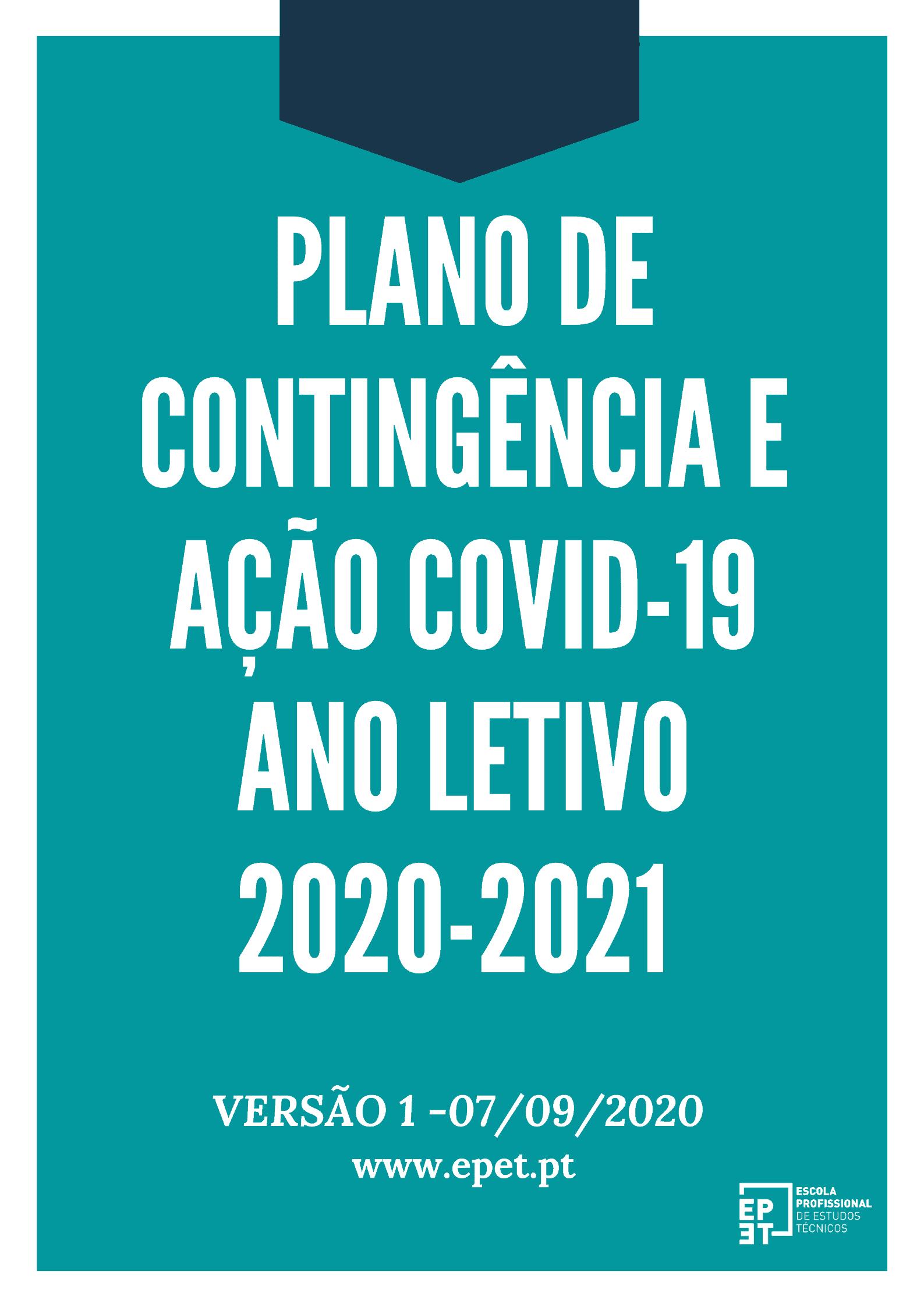 Plano de Contingência e Ação Covi-19. Ano Letivo 2020-2021