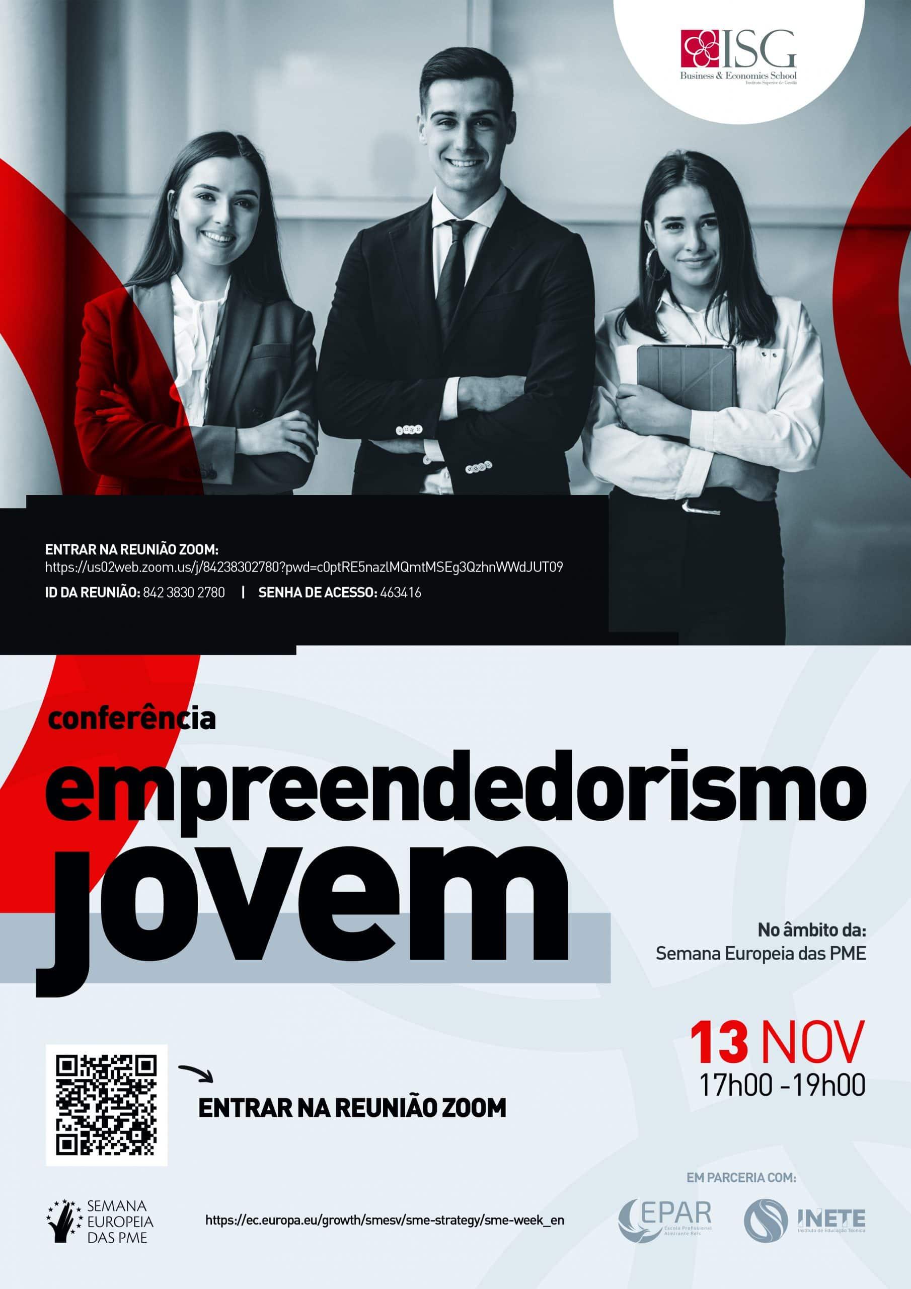 Conferência no ISG, Empreendedorismo Jovem