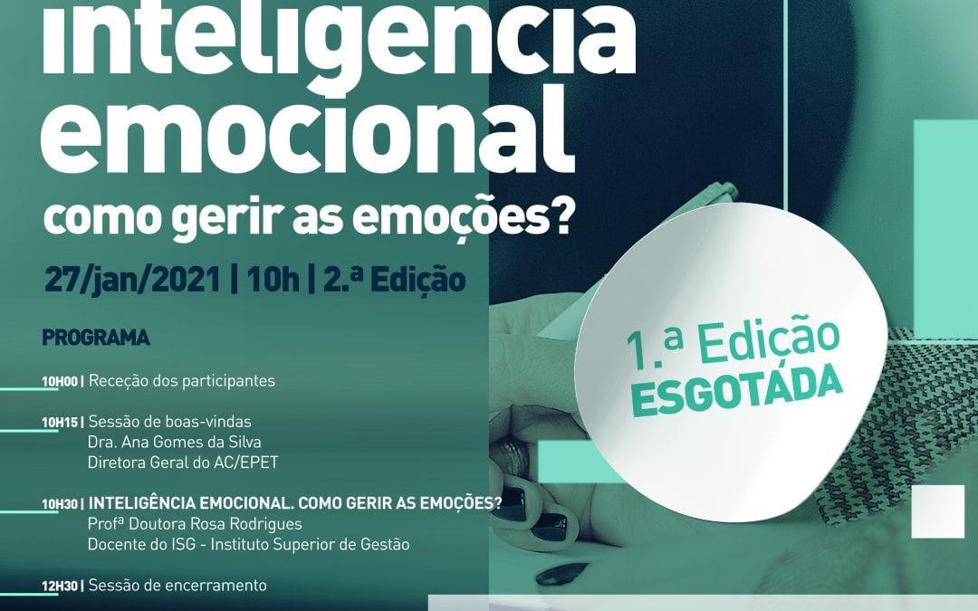 Workshop I Encontro de spo's Inteligência emocional, como gerir as emoções – VIA ZOOM